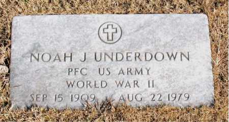 UNDERDOWN  (VETERAN WWII), NOAH J - Newton County, Arkansas | NOAH J UNDERDOWN  (VETERAN WWII) - Arkansas Gravestone Photos