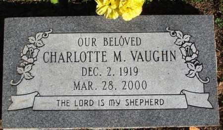 VAUGHN, CHARLOTTE M. - Newton County, Arkansas | CHARLOTTE M. VAUGHN - Arkansas Gravestone Photos