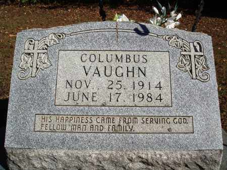 VAUGHN, COLUMBUS - Newton County, Arkansas | COLUMBUS VAUGHN - Arkansas Gravestone Photos