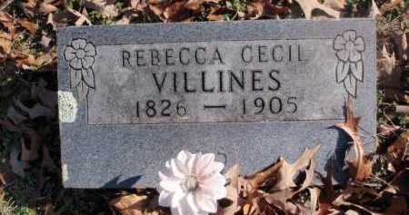 CECIL VILLINES, REBECCA - Newton County, Arkansas | REBECCA CECIL VILLINES - Arkansas Gravestone Photos