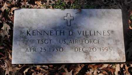 VILLINES  (VETERAN), KENNETH D - Newton County, Arkansas | KENNETH D VILLINES  (VETERAN) - Arkansas Gravestone Photos