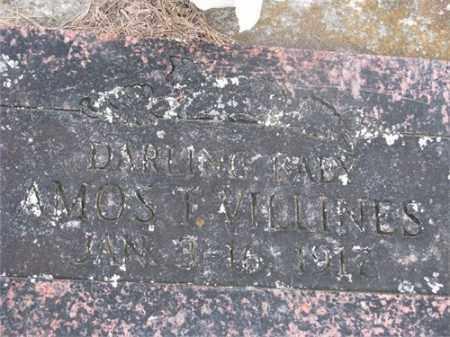 VILLINES, AMOS T, - Newton County, Arkansas | AMOS T, VILLINES - Arkansas Gravestone Photos