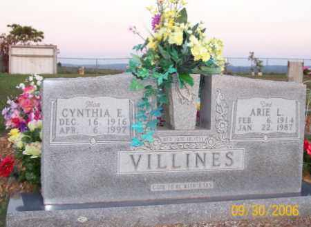 VILLINES, ARIE L. - Newton County, Arkansas | ARIE L. VILLINES - Arkansas Gravestone Photos