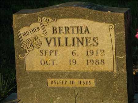 VILLINES, BERTHA - Newton County, Arkansas | BERTHA VILLINES - Arkansas Gravestone Photos