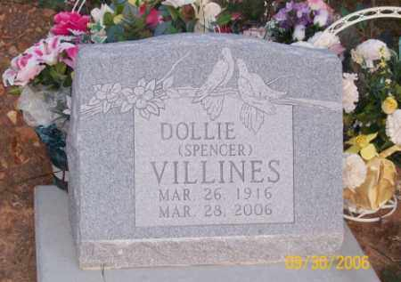 SPENCER VILLINES, DOLLIE - Newton County, Arkansas | DOLLIE SPENCER VILLINES - Arkansas Gravestone Photos