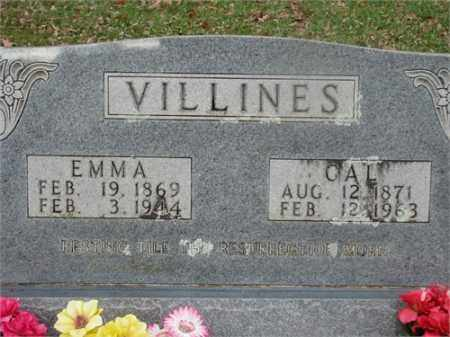VILLINES, EMMA - Newton County, Arkansas | EMMA VILLINES - Arkansas Gravestone Photos