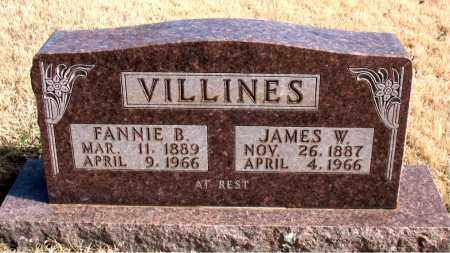 VILLINES, FANNIE B. - Newton County, Arkansas | FANNIE B. VILLINES - Arkansas Gravestone Photos