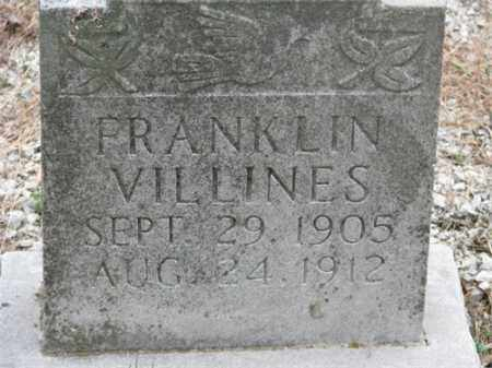 VILLINES, FRANKLIN - Newton County, Arkansas | FRANKLIN VILLINES - Arkansas Gravestone Photos