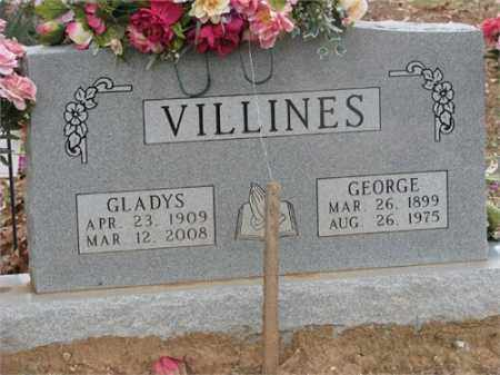 VILLINES, GLADYS - Newton County, Arkansas | GLADYS VILLINES - Arkansas Gravestone Photos