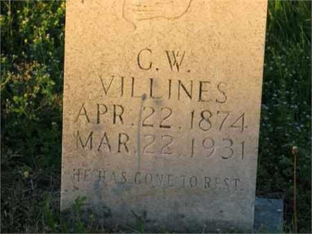 VILLINES, G. W. - Newton County, Arkansas | G. W. VILLINES - Arkansas Gravestone Photos