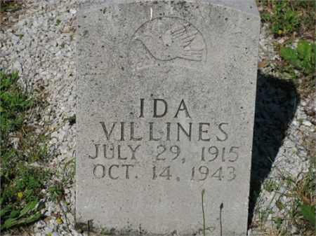 VILLINES, IDA - Newton County, Arkansas | IDA VILLINES - Arkansas Gravestone Photos
