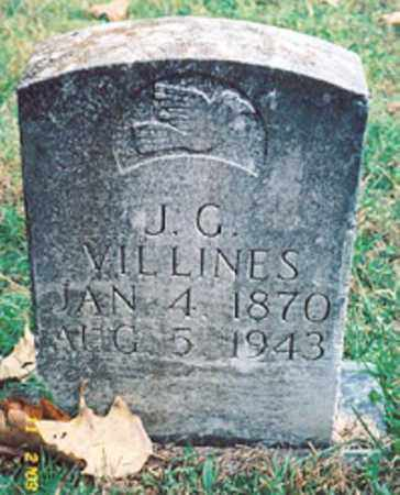 VILLINES, J.G. - Newton County, Arkansas | J.G. VILLINES - Arkansas Gravestone Photos