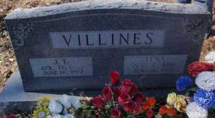 VILLINES, J. T. - Newton County, Arkansas | J. T. VILLINES - Arkansas Gravestone Photos