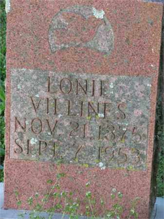 VILLINES, LONIE - Newton County, Arkansas | LONIE VILLINES - Arkansas Gravestone Photos