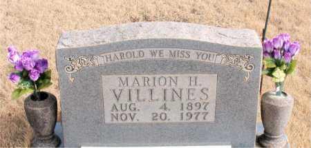 VILLINES, MARION H. - Newton County, Arkansas | MARION H. VILLINES - Arkansas Gravestone Photos