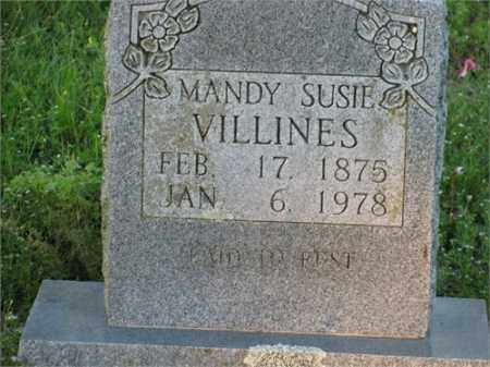 VILLINES, MANDY SUSIE - Newton County, Arkansas | MANDY SUSIE VILLINES - Arkansas Gravestone Photos
