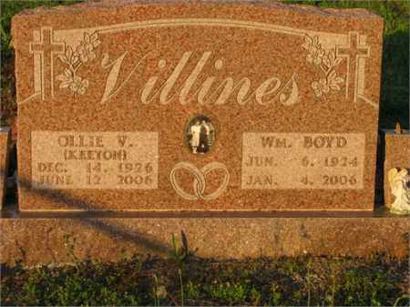 VILLINES, WM. BOYD - Newton County, Arkansas | WM. BOYD VILLINES - Arkansas Gravestone Photos