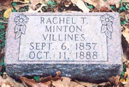 MINTON VILLINES, RACHEL T. - Newton County, Arkansas | RACHEL T. MINTON VILLINES - Arkansas Gravestone Photos