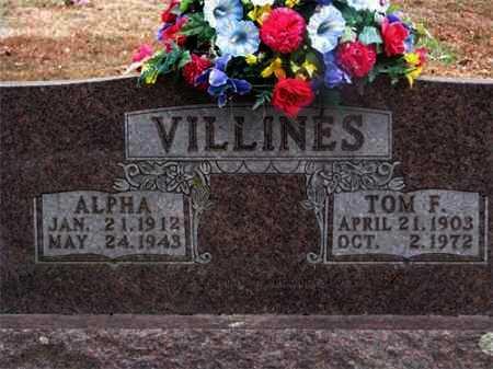 VILLINES, ALPHA - Newton County, Arkansas | ALPHA VILLINES - Arkansas Gravestone Photos