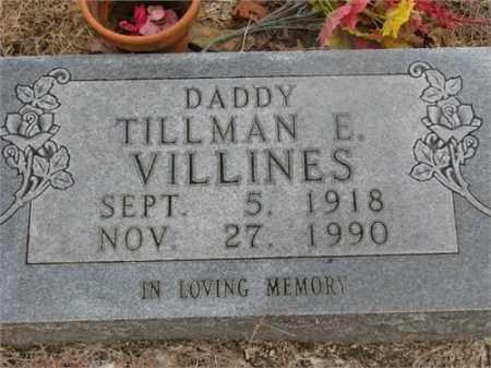 VILLINES, TILLMAN E. - Newton County, Arkansas | TILLMAN E. VILLINES - Arkansas Gravestone Photos
