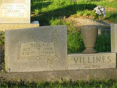 ARBAUGH VILLINES, VIOLA - Newton County, Arkansas | VIOLA ARBAUGH VILLINES - Arkansas Gravestone Photos