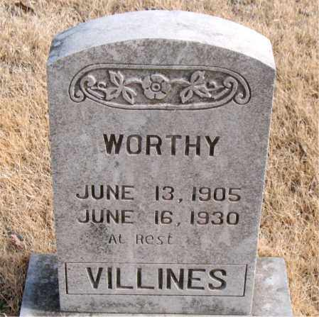 VILLINES, WORTHY - Newton County, Arkansas | WORTHY VILLINES - Arkansas Gravestone Photos