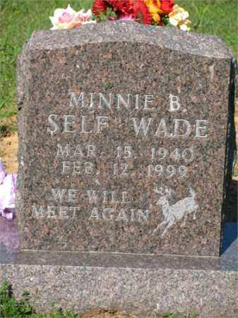 SELF WADE, MINNIE B. - Newton County, Arkansas | MINNIE B. SELF WADE - Arkansas Gravestone Photos