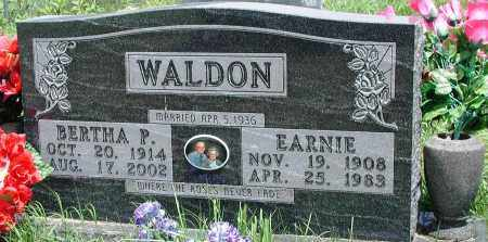 WALDON, BERTHA P - Newton County, Arkansas | BERTHA P WALDON - Arkansas Gravestone Photos