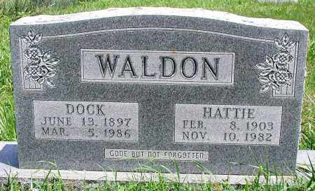 WALDON, DOCK - Newton County, Arkansas | DOCK WALDON - Arkansas Gravestone Photos
