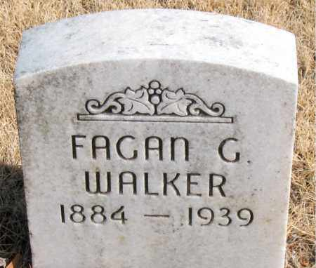 WALKER, FAGAN G. - Newton County, Arkansas | FAGAN G. WALKER - Arkansas Gravestone Photos