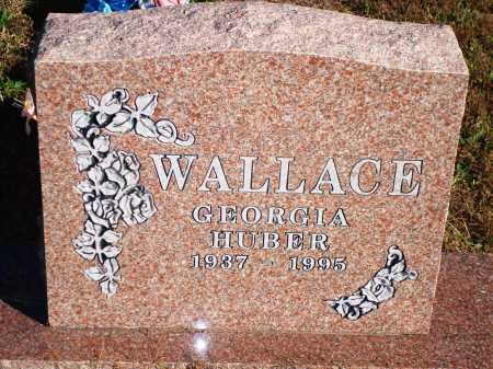 HUBER WALLACE, GEORGIA - Newton County, Arkansas | GEORGIA HUBER WALLACE - Arkansas Gravestone Photos