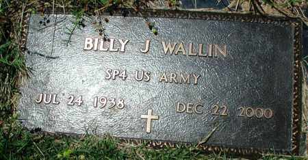 WALLIN (VETERAN), BILLY J - Newton County, Arkansas | BILLY J WALLIN (VETERAN) - Arkansas Gravestone Photos