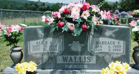 WALLIS, HARRACE F - Newton County, Arkansas | HARRACE F WALLIS - Arkansas Gravestone Photos