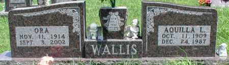 WALLIS, ORA - Newton County, Arkansas | ORA WALLIS - Arkansas Gravestone Photos