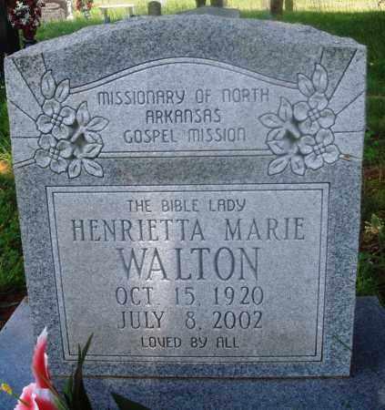 WALTON, HENRIETTA MARIE - Newton County, Arkansas | HENRIETTA MARIE WALTON - Arkansas Gravestone Photos