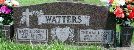 JONES WATTERS, MARY J - Newton County, Arkansas | MARY J JONES WATTERS - Arkansas Gravestone Photos