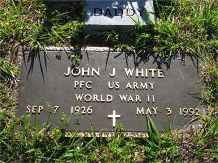 WHITE (VETERAN WWII), JOHN J - Newton County, Arkansas | JOHN J WHITE (VETERAN WWII) - Arkansas Gravestone Photos