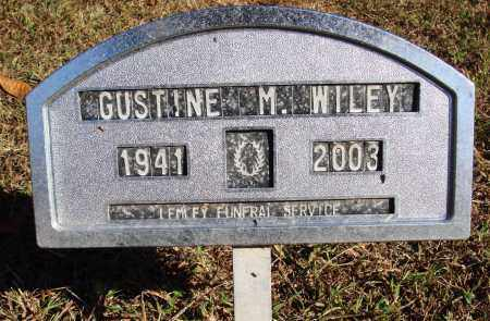 WILEY, GUSTINE M. - Newton County, Arkansas | GUSTINE M. WILEY - Arkansas Gravestone Photos