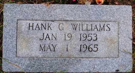 WILLIAMS, HANK G. - Newton County, Arkansas | HANK G. WILLIAMS - Arkansas Gravestone Photos