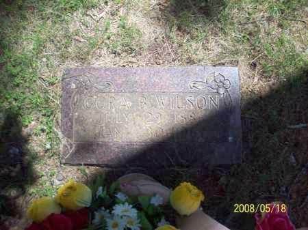 HENDERSON WILSON, CORA BELLE - Newton County, Arkansas | CORA BELLE HENDERSON WILSON - Arkansas Gravestone Photos