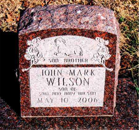 WILSON, JOHN MARK - Newton County, Arkansas | JOHN MARK WILSON - Arkansas Gravestone Photos