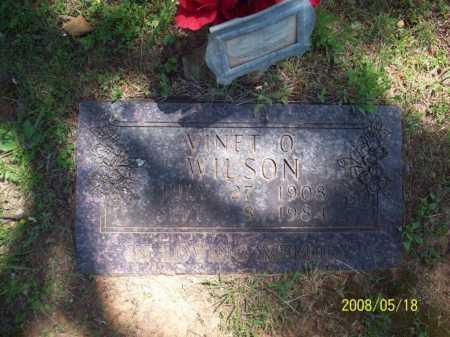 WILSON, VINET O. - Newton County, Arkansas | VINET O. WILSON - Arkansas Gravestone Photos