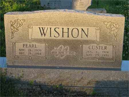 WISHON, GEORGE CUSTER - Newton County, Arkansas | GEORGE CUSTER WISHON - Arkansas Gravestone Photos