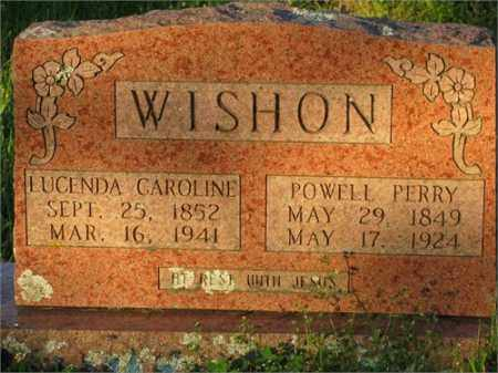 WISHON, LUCENDA CAROLINE - Newton County, Arkansas | LUCENDA CAROLINE WISHON - Arkansas Gravestone Photos
