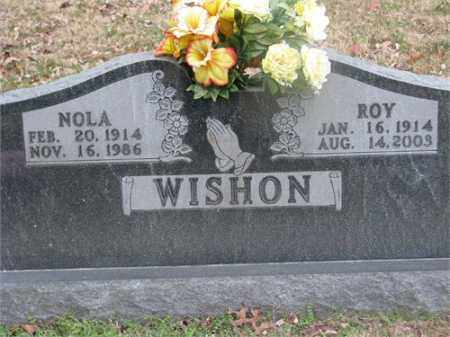 WISHON, NOLA - Newton County, Arkansas | NOLA WISHON - Arkansas Gravestone Photos