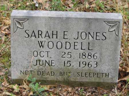 JONES WOODELL, SARAH E. - Newton County, Arkansas | SARAH E. JONES WOODELL - Arkansas Gravestone Photos