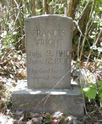WRIGHT, FRANCES - Newton County, Arkansas | FRANCES WRIGHT - Arkansas Gravestone Photos