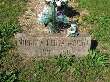 WRIGHT, VIRGINIA LEOTA - Newton County, Arkansas | VIRGINIA LEOTA WRIGHT - Arkansas Gravestone Photos