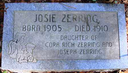 ZERRING, JOSIE - Newton County, Arkansas | JOSIE ZERRING - Arkansas Gravestone Photos