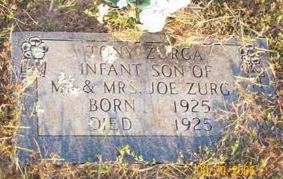 ZURGA, TONY - Newton County, Arkansas | TONY ZURGA - Arkansas Gravestone Photos